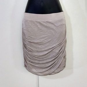 Free People beige draped mini skirt M